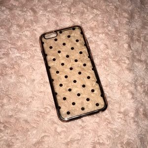 Accessories - Rose Gold Polka Dot Case